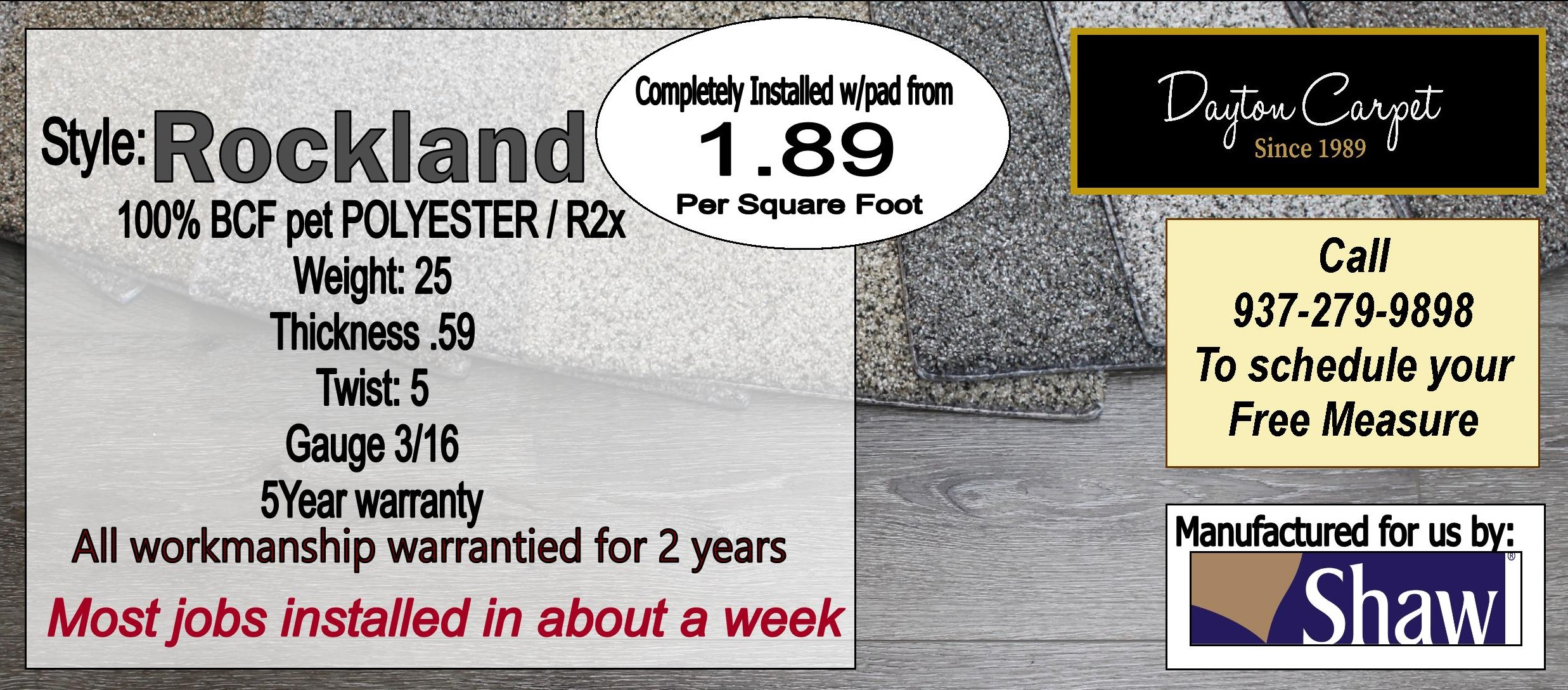 Rockland Dayton Carpet Liquidators Inc